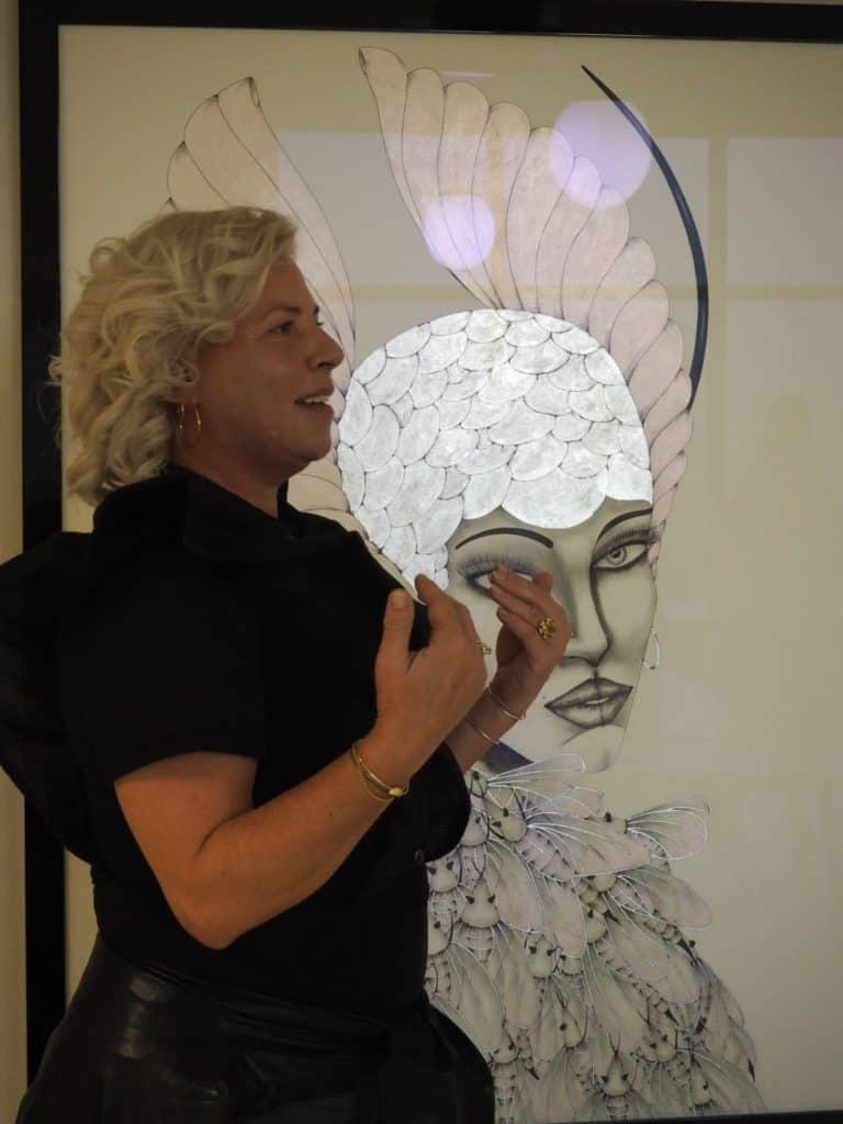 Fernisering med Sussi Trampedach på Galleri Nijenkamp