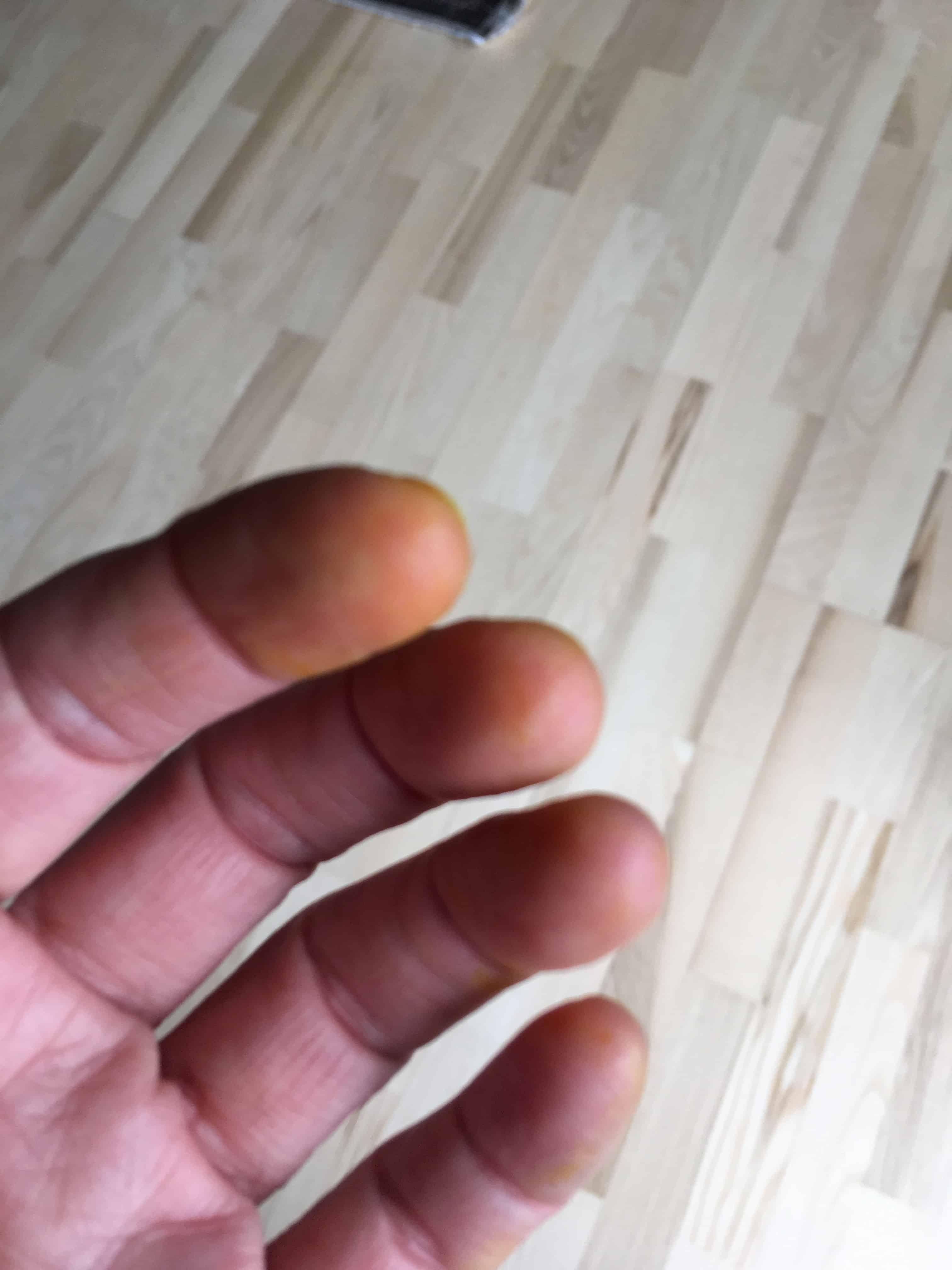 Og et lille tip- gurkemeje stykkerne gi'r gule fingre