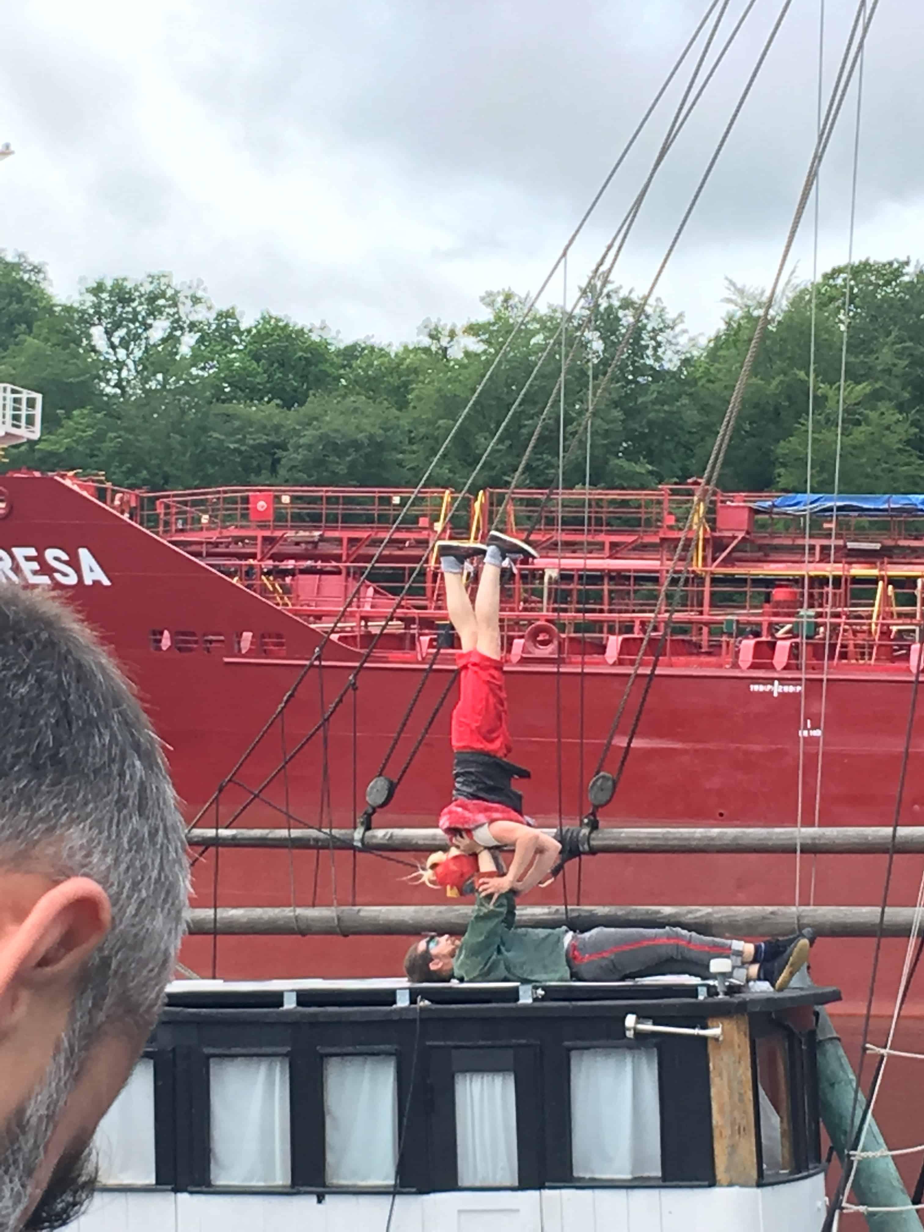 Akrobatik på Østre Havnekaj