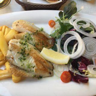 Den lokale Gallo fisk smagte sindsygt godt