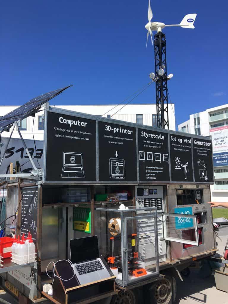 Plastic Lab on Wheels var på besøg på Odense havn til havnekulturfestivalen i maj