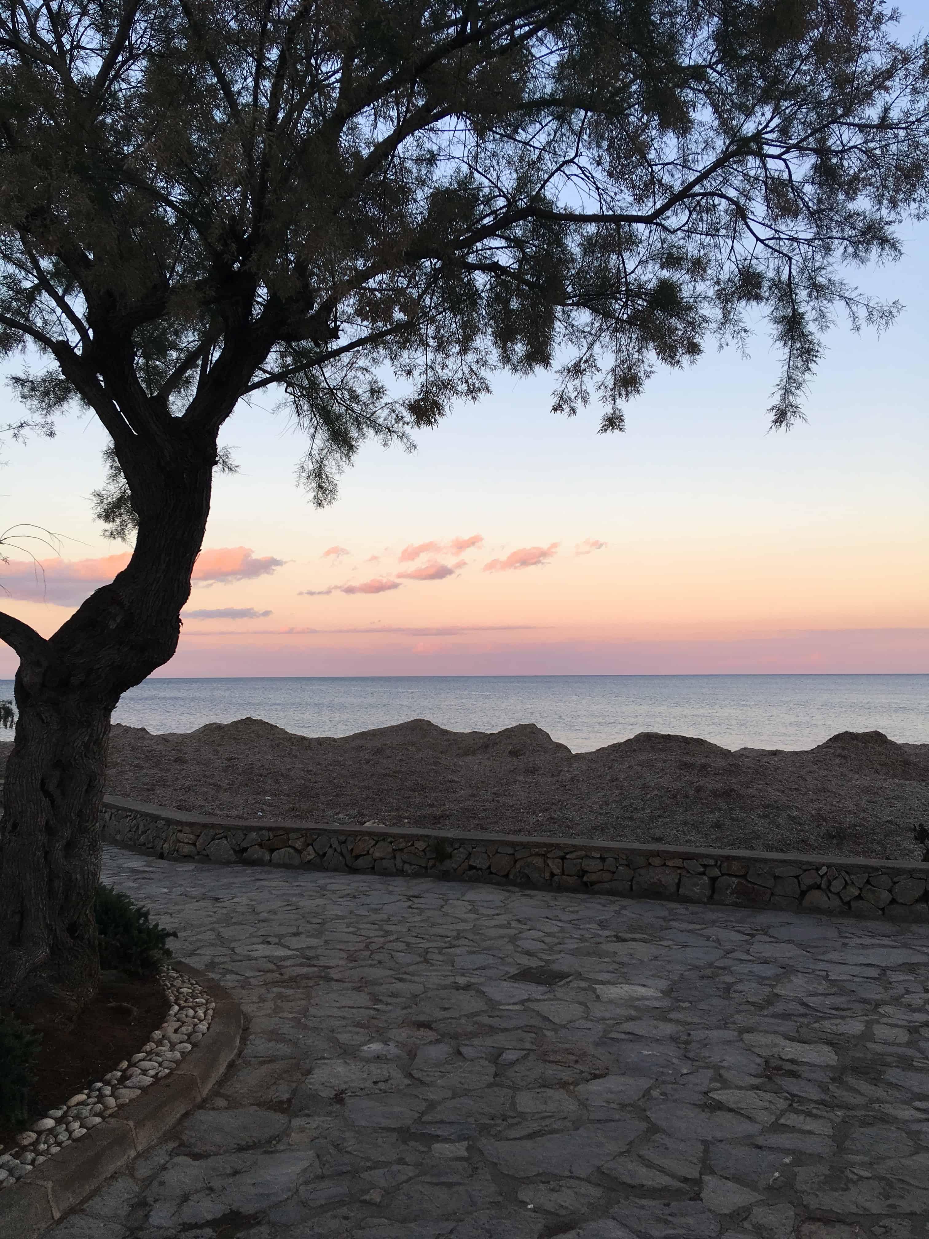 Afslapning på Mallorca og smuk udsigt fra promenaden