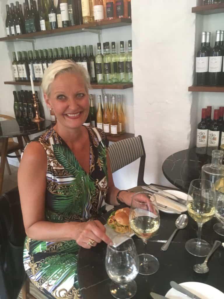 Aftenens gode selskab Kristina, der har bloggen Love2live.dk