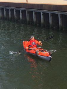 Mads havde sin kajak i vandet