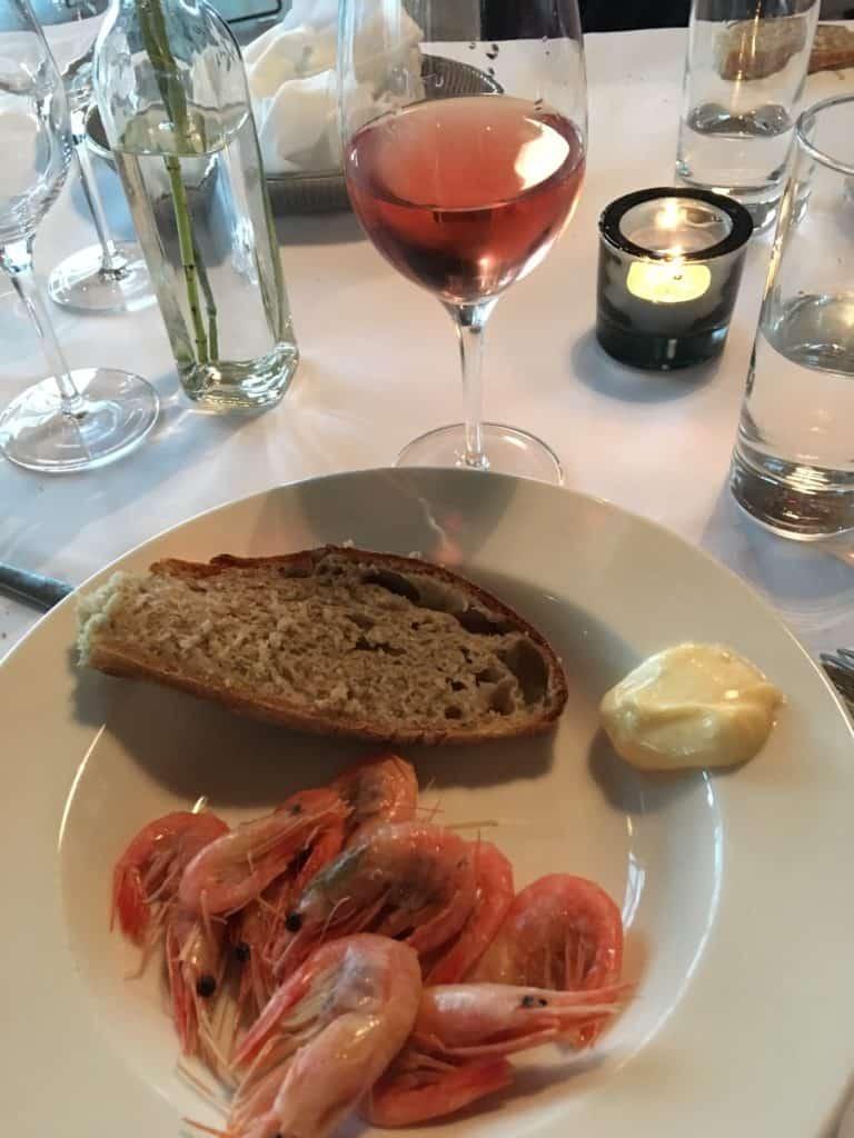 Pil selv rejer på restaurant Nordatlanten