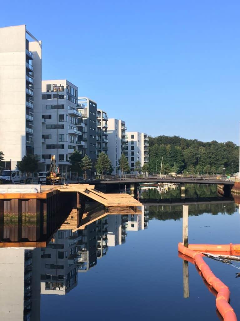 Promenadebyen og den nye ponton foran Stenfiskerkajen