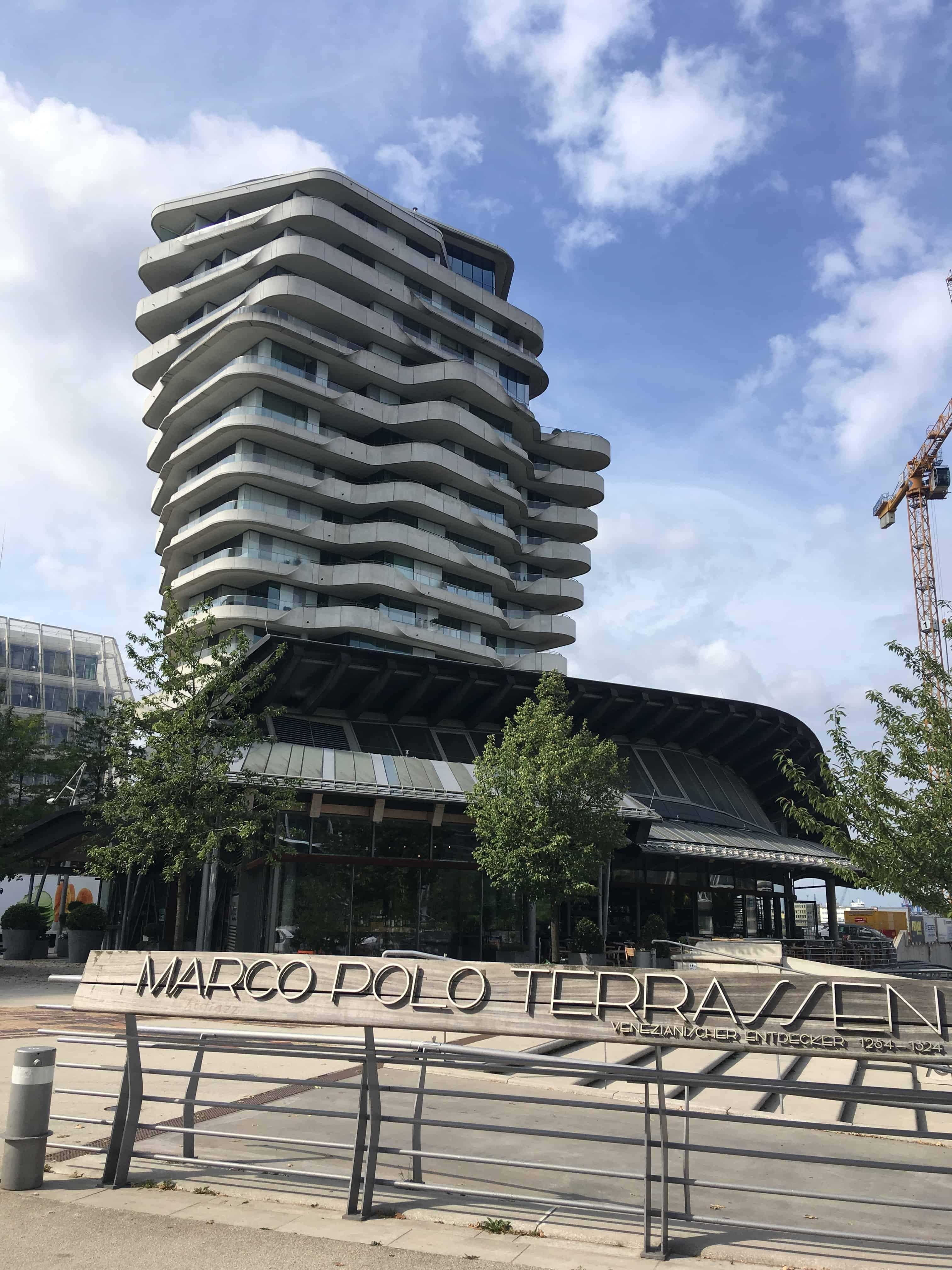 En af de dyrere adresser i Hamburg er Marco Polo bygningen