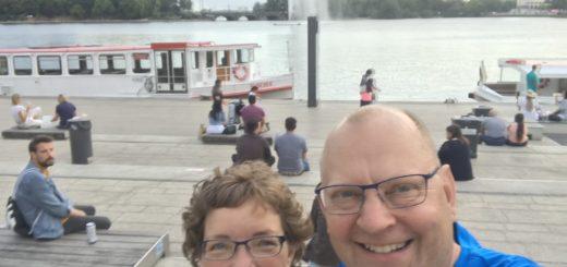 Selfie foran Binnealster