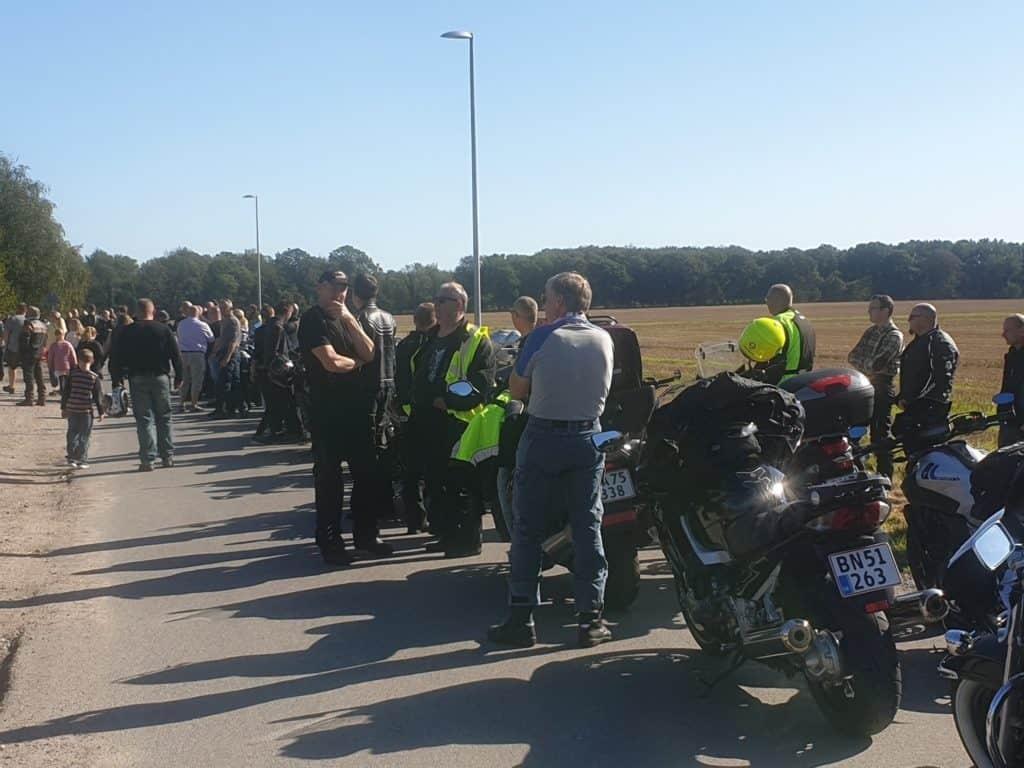 De 196 motorcyklister og deres kværne fyldte en del