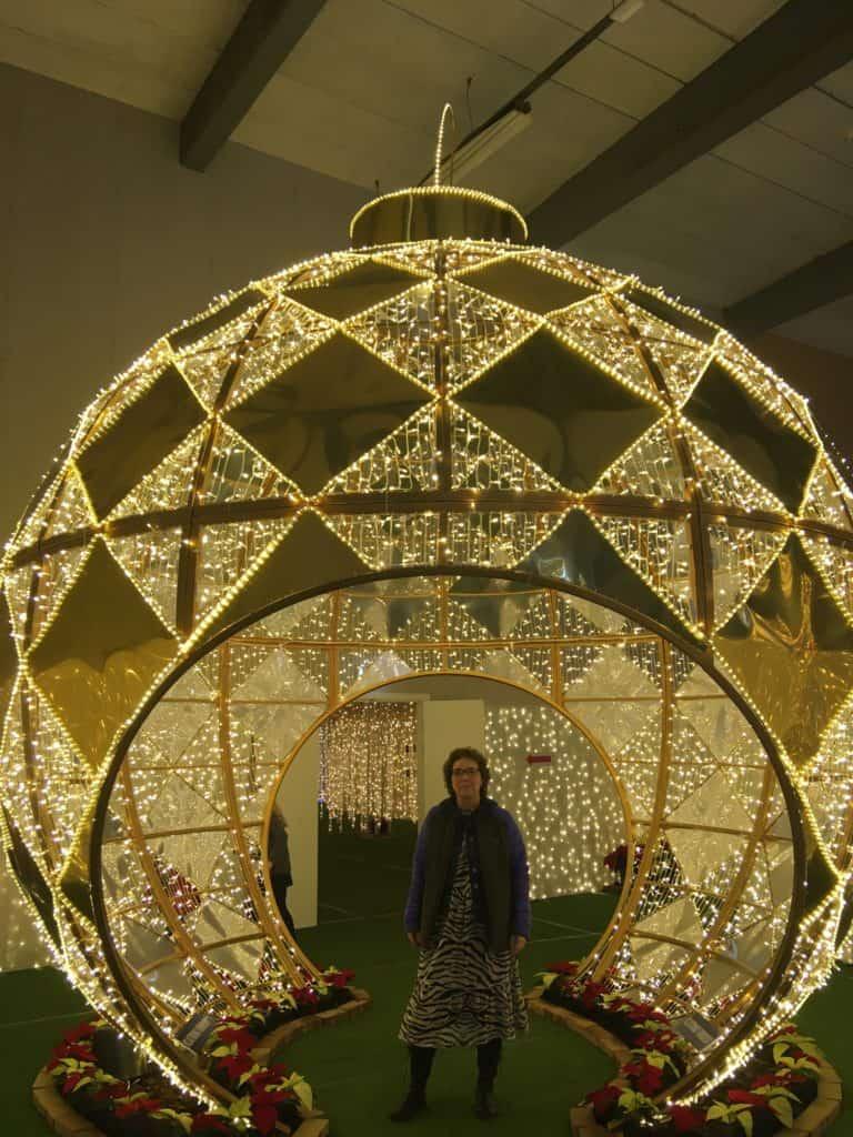 Her er jeg i en af lyskuplerne