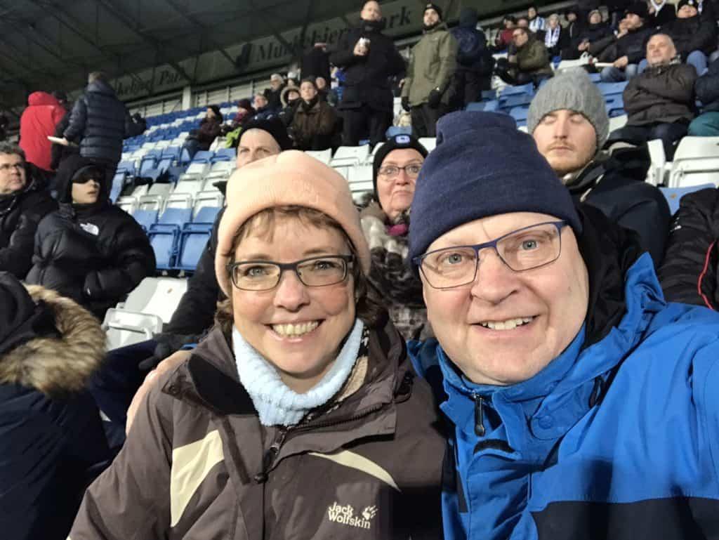 Det var en kølig oplevelse at være på stadion