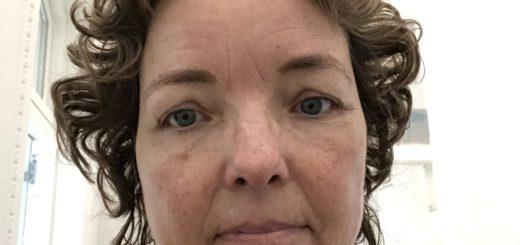 Lidt groggy efter en times kombineret ansigtsbehandling og massage