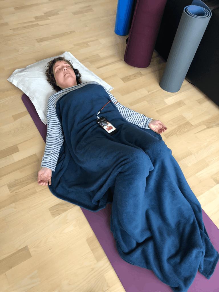 April i bakspejlet bød på flere online klangmeditationer og total afslapning som det ses
