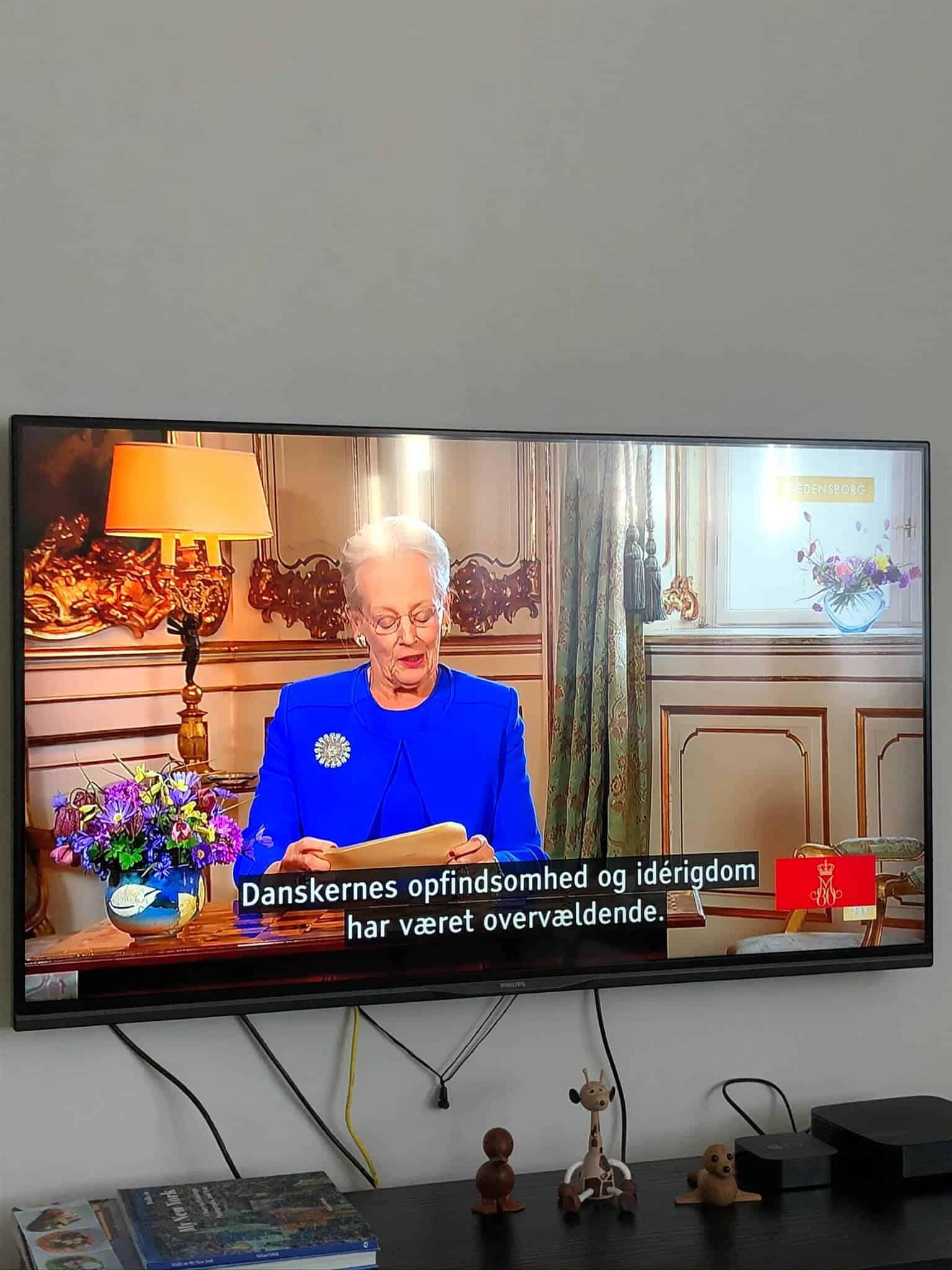 Dronningen holder tv tale til nationen på sin fødselsdag