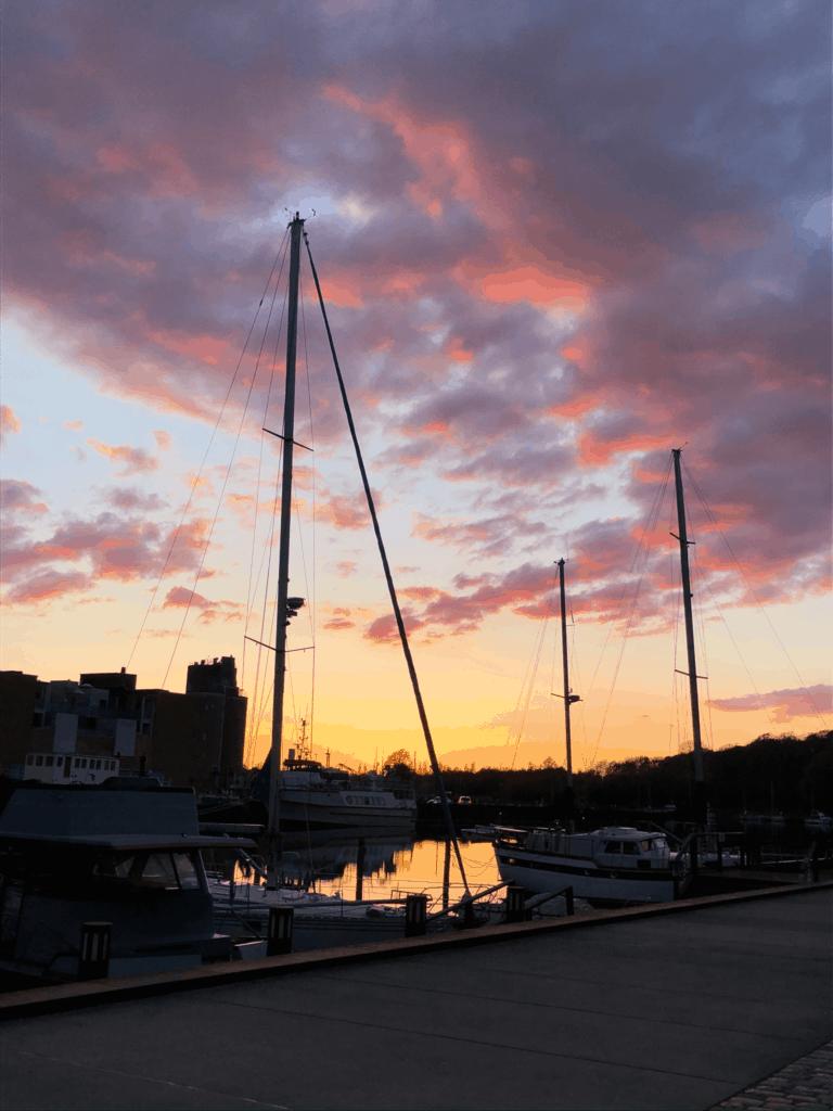 En af de smukke solnedgange