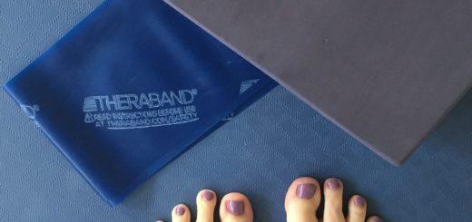 Højt humør på yogamåtten i januar