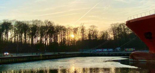 Februar har budt på nogle flotte solnedgange i havnehood'et