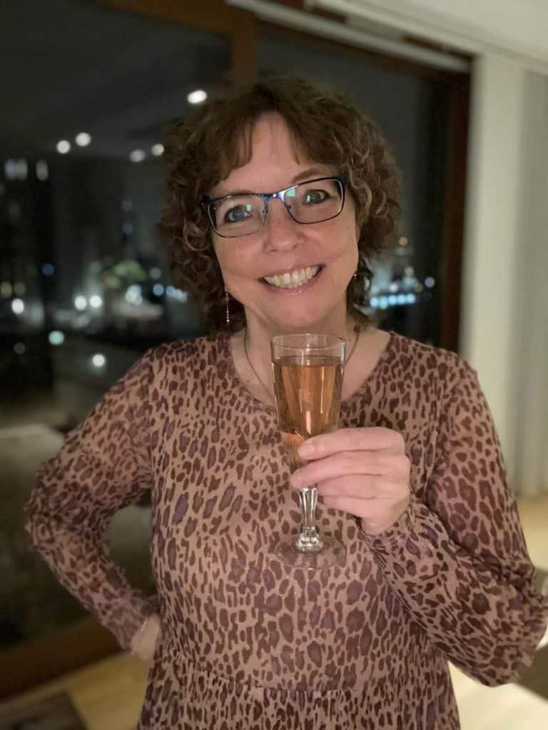 Til et Instagram party må der gerne drikkes lyserød champagne