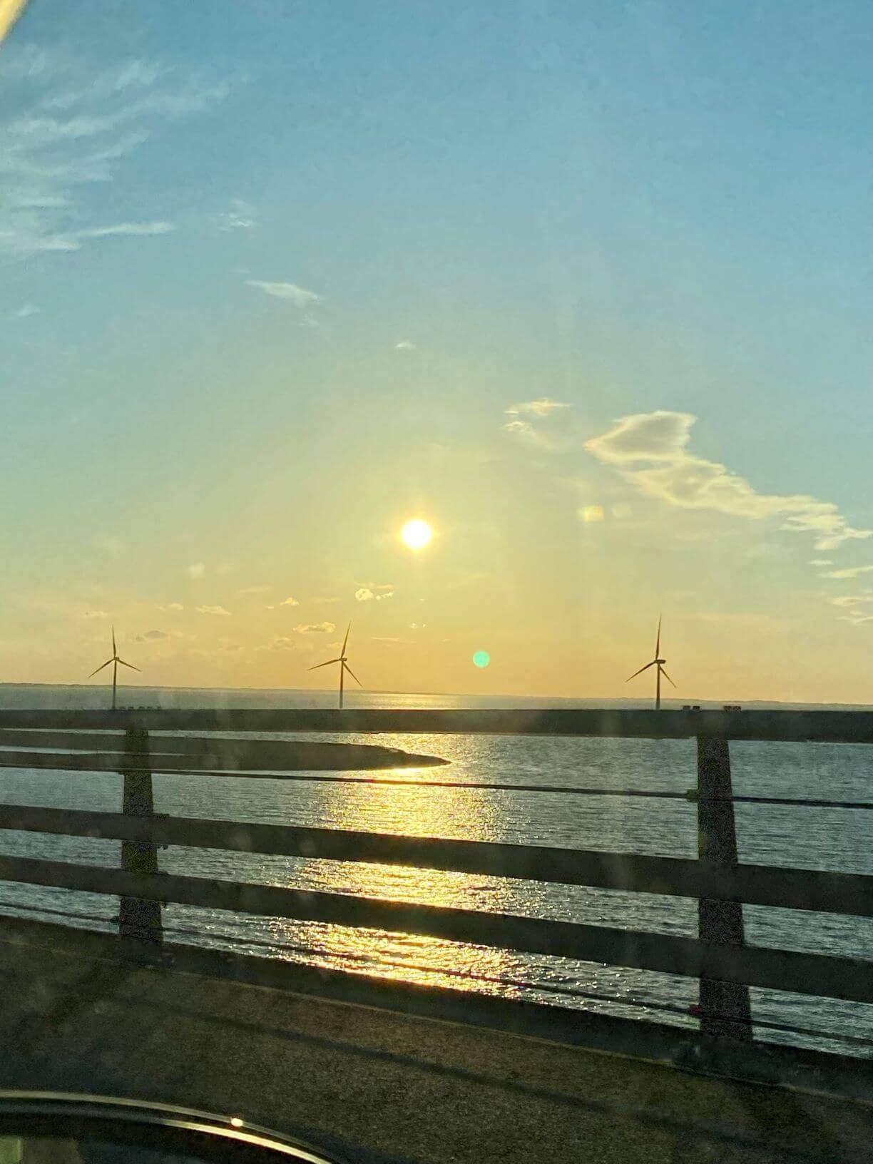 Solnedgang over Storebælt