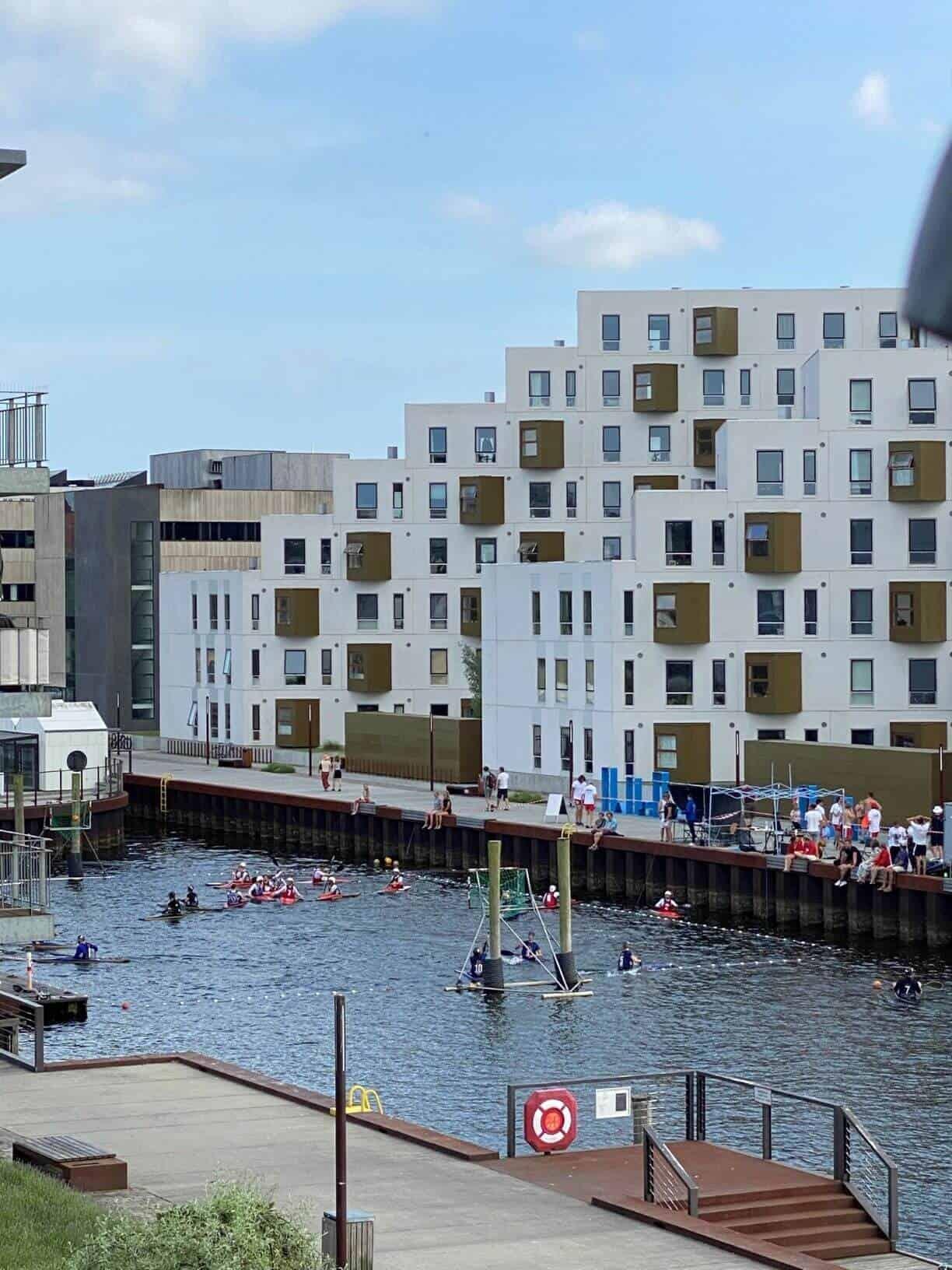 Første parket til kajak polo turneringen på Odense havn