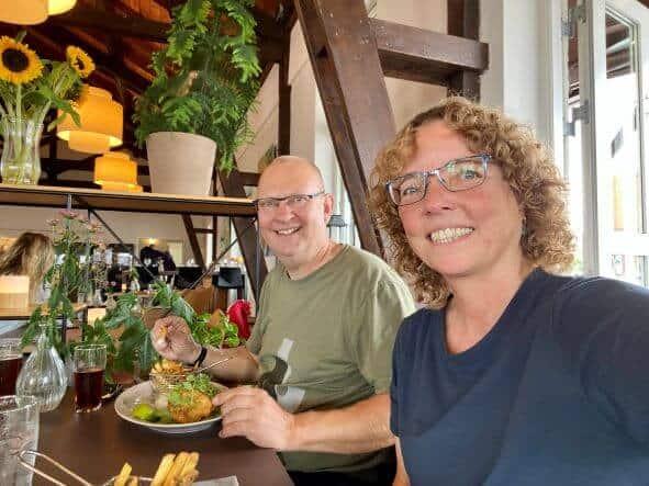 Fish'n'chips på Det Hvide Pakhus i Fåborg
