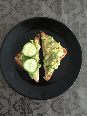 Avocado toast in the making