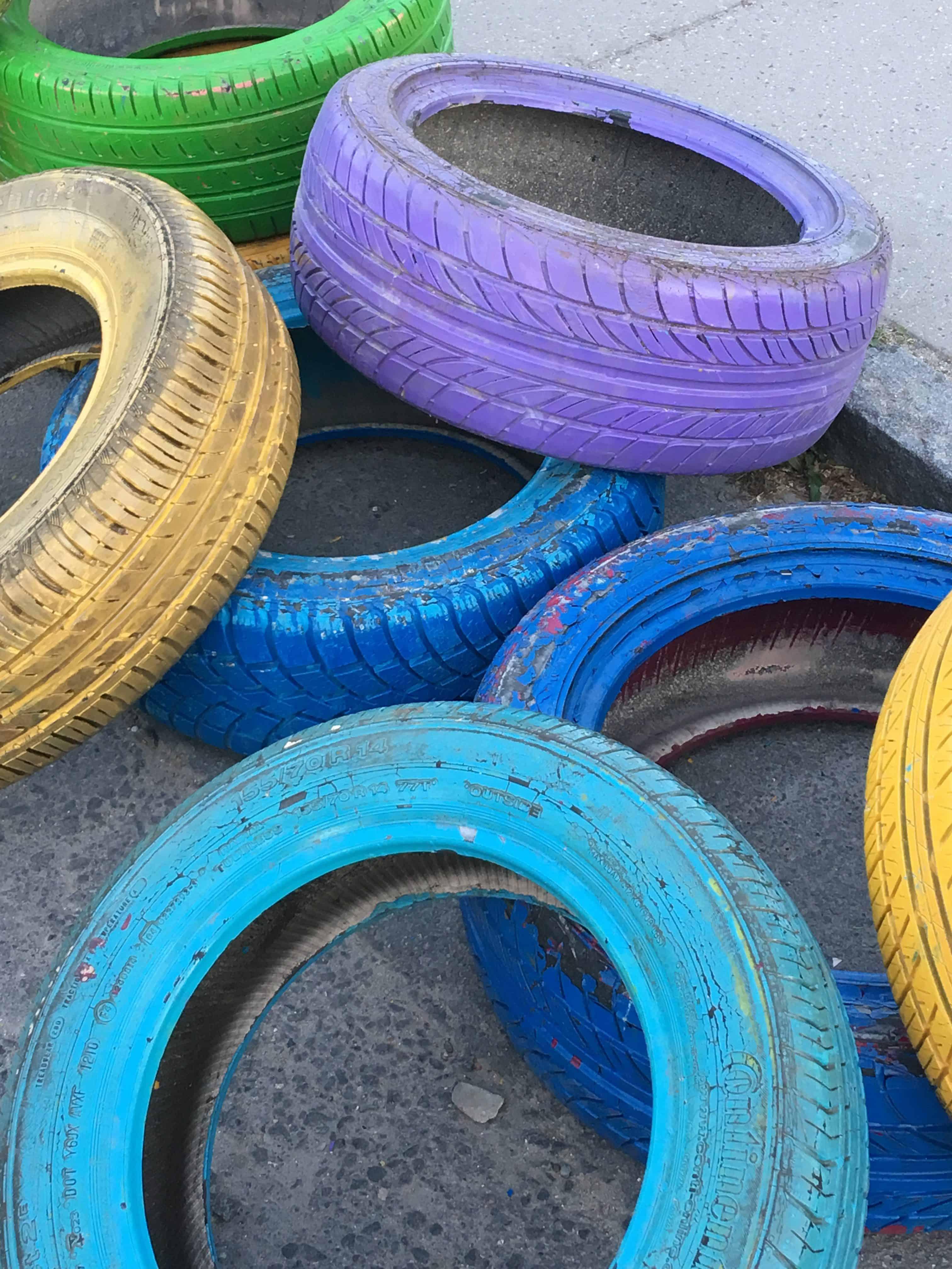 Farvede dæk