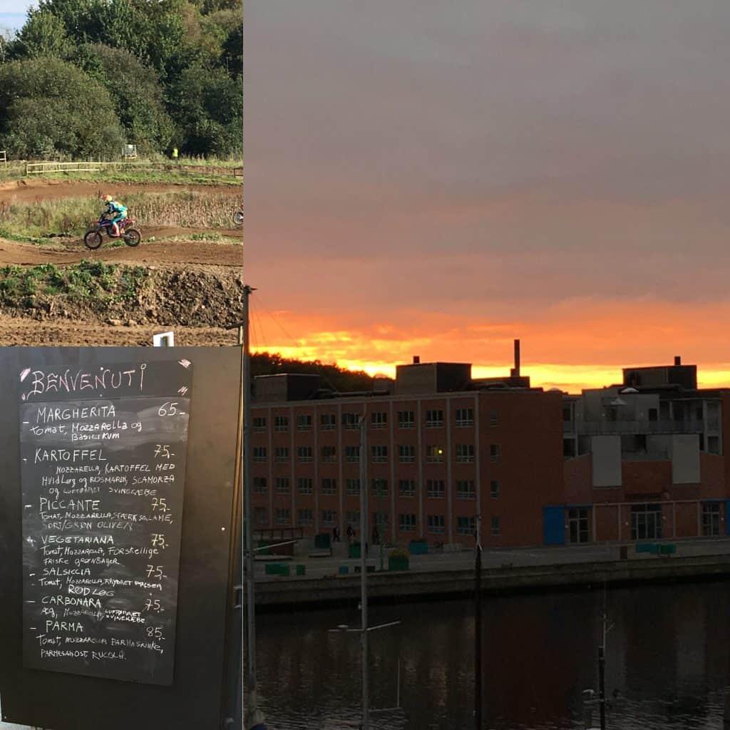 En lørdag med cross, pizza og en flot solnedgang