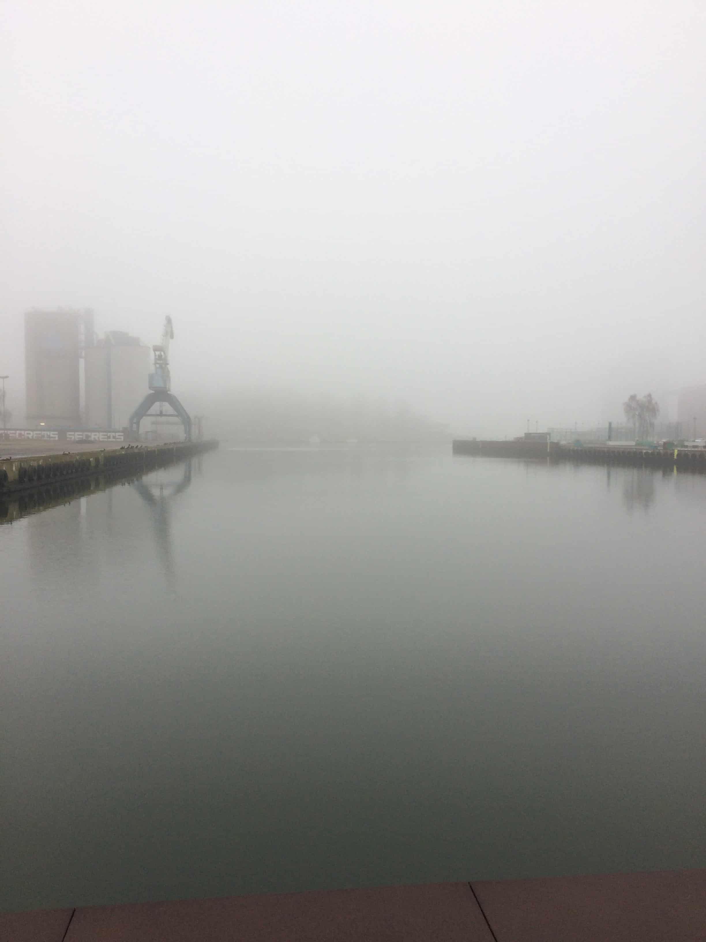 En tåget Odense havn