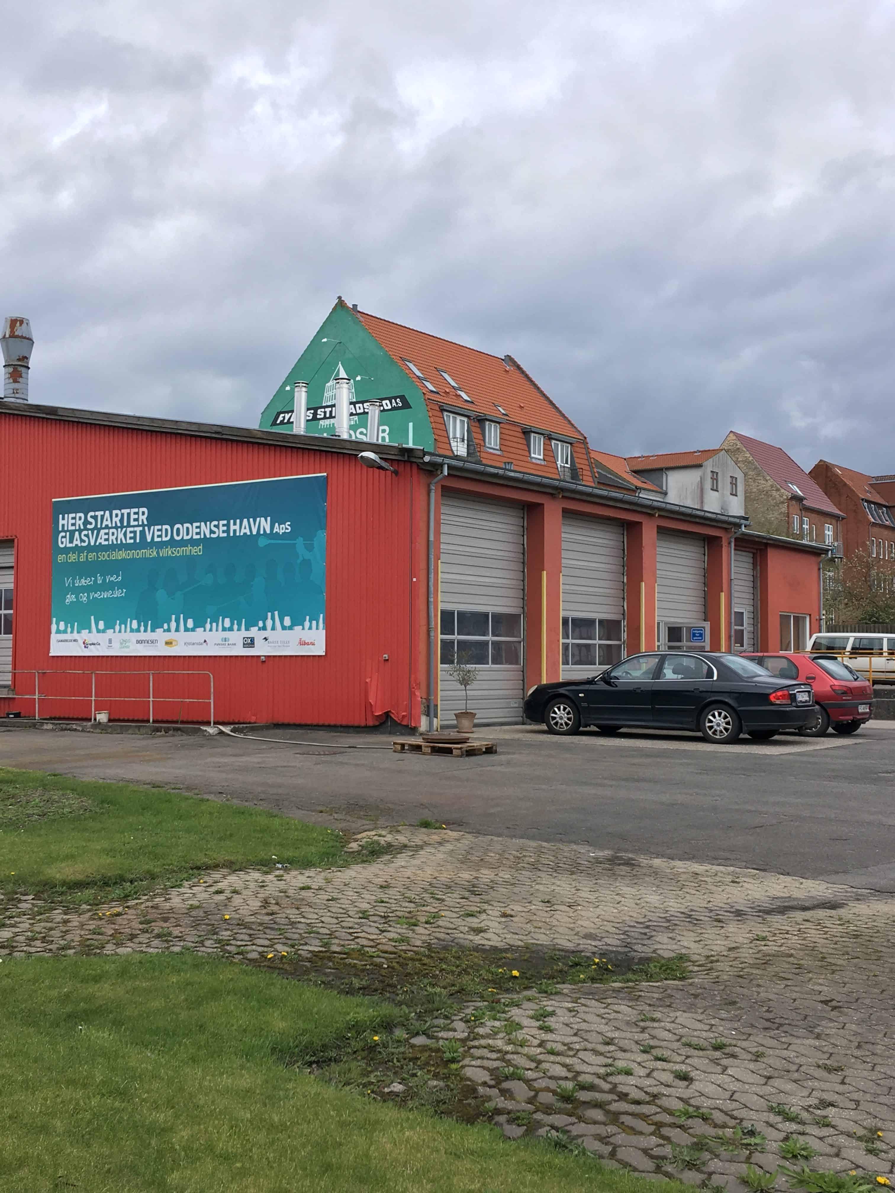 Glasværket set fra Havnegade