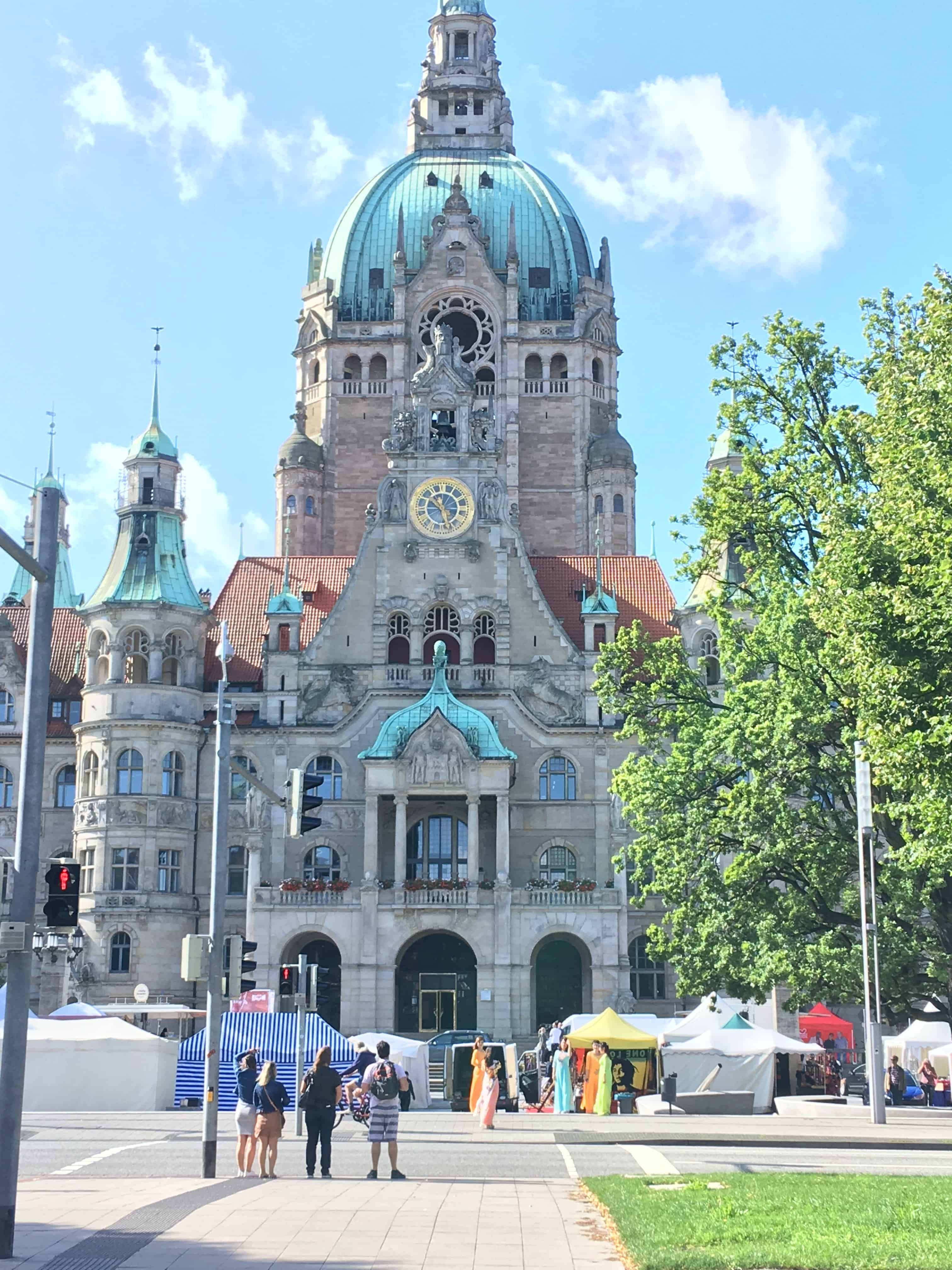 Hannover rådhuse - set udefra