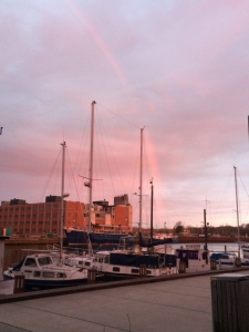 Regnbue over Byens Ø