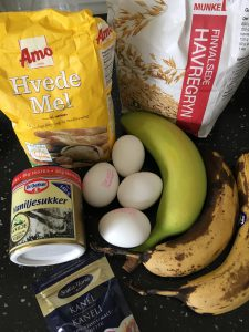 Ingredisenser til banan pandekager