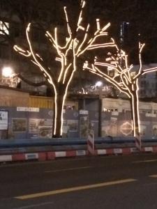 Julebelysning på Under Den Linden