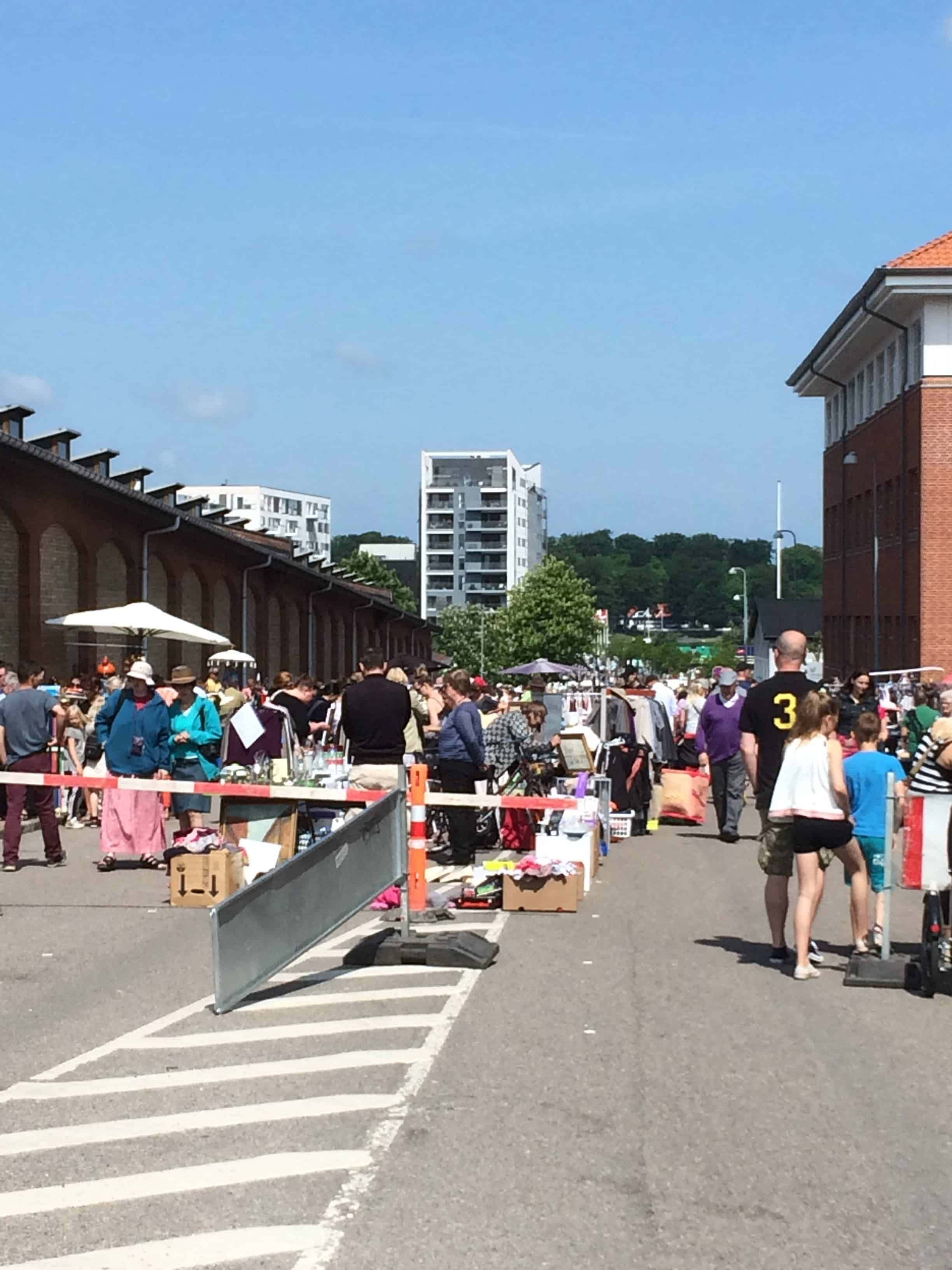 Loppemarked i Lerchesgade