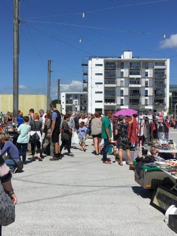 Loppemarked på havnepladsen