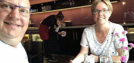 Mads og Louise i Executive lounge