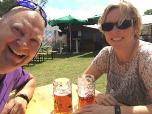 Mads og Louise til Bierfest
