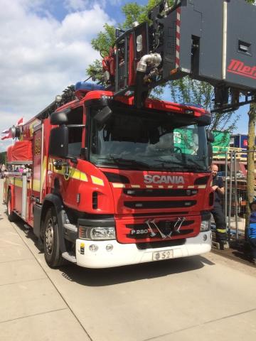 Odense Brandvæsen var også med på havnekulturfestivalen