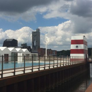 Odense havnebad - set fra promenaden