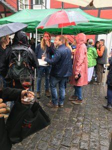 Paraplyer var populære