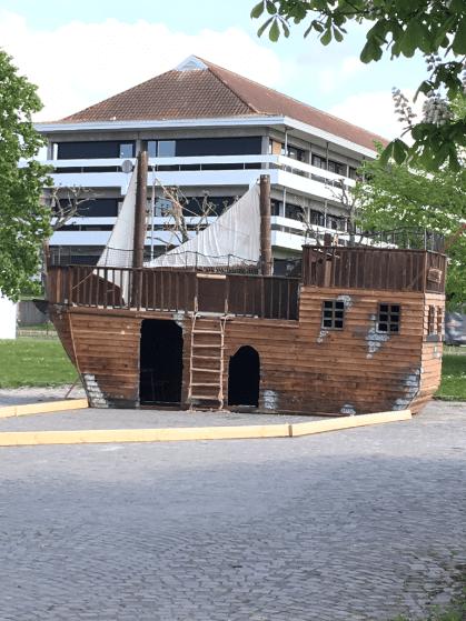 Sørøverskib ved Marineforeningen