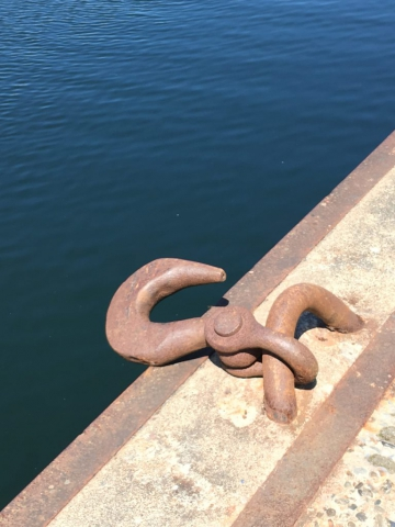 Skibs jernkrog ved bassin 3