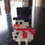 Snemand i perler lavet af vores nevø