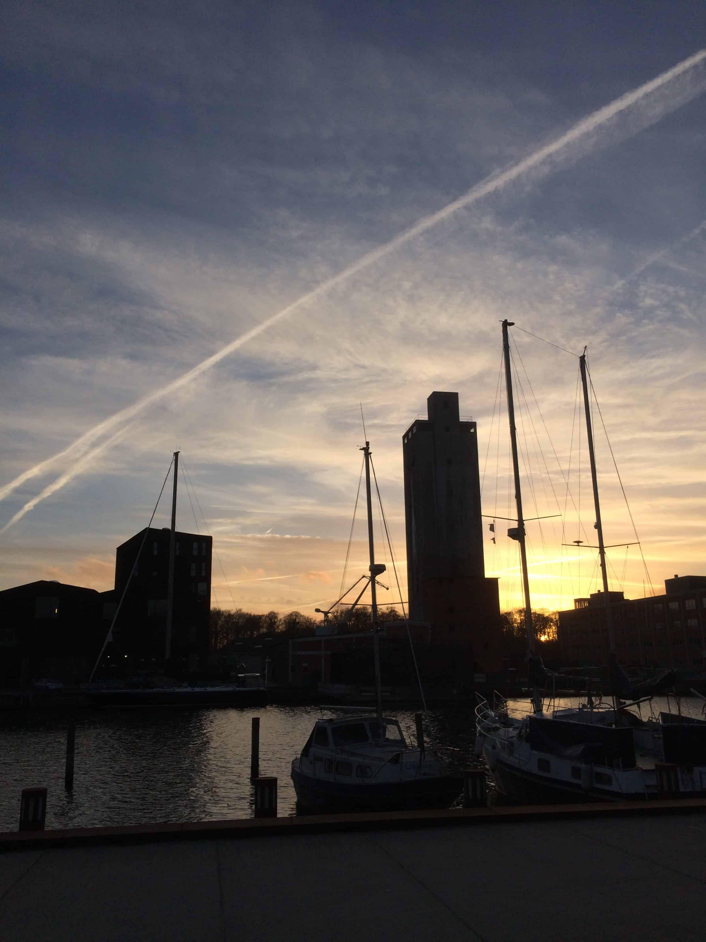 Solnedgang er lig med kamera