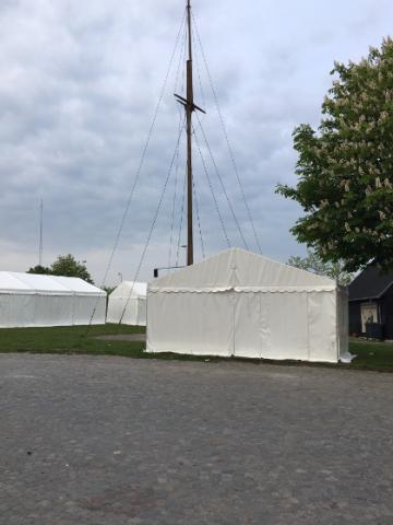 Telte ved Marineforeningen