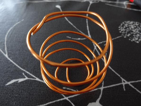 Tillandisa holder i kobber alu wire