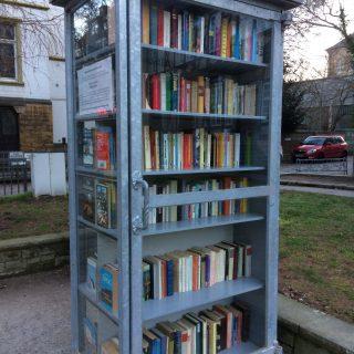 Fedt koncept: byt en bog på gågaden - på tysk