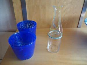 Glas i blå nuancer